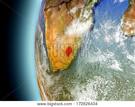 Lesotho On Planet Earth From Space