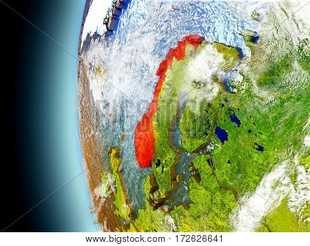 Norway On Planet Earth From Space