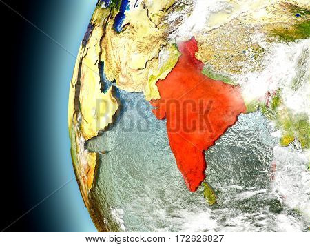 India On Planet Earth From Space