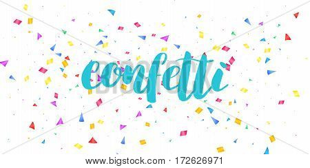 Confetti. Holiday shiny confetti isolated on white background. Colorful confetti