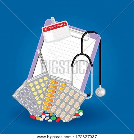 Medical prescription for medication at the pharmacy