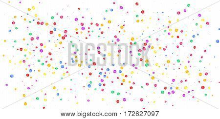 Confetti. Holiday shiny confetti isolated on white background. Colorful confetti.