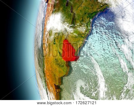 Uruguay On Planet Earth From Space