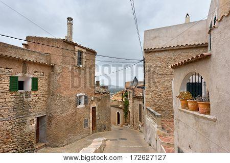 Medieval architecture of village Capdepera. Island Majorca, Spain.