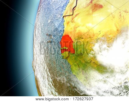 Senegal On Planet Earth From Space