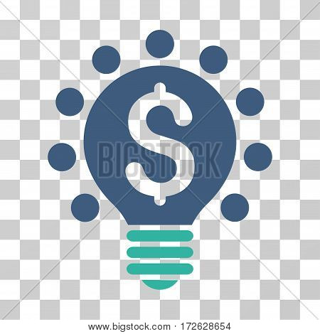 Business Patent Bulb icon. Vector illustration style is flat iconic bicolor symbol cobalt and cyan colors transparent background. Designed for web and software interfaces.