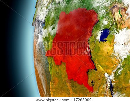 Democratic Republic Of Congo On Planet Earth From Space