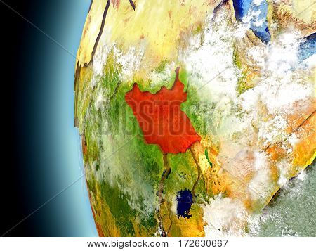South Sudan On Planet Earth From Space