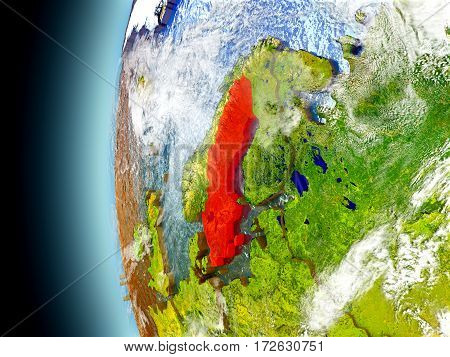 Sweden On Planet Earth From Space