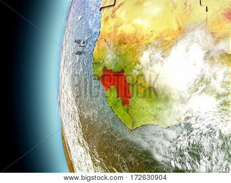 Guinea On Planet Earth From Space