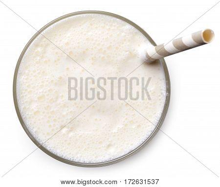 Glass Of Vanilla Milkshake