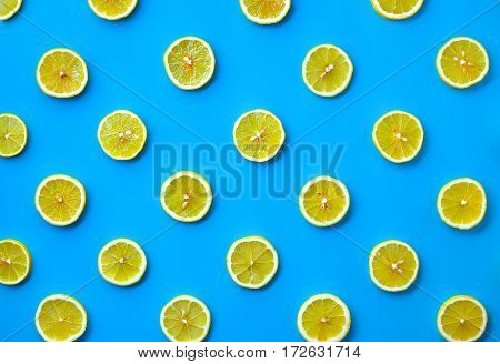 Colorful Pattern Of Lemon Slices