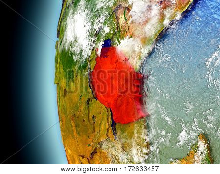 Tanzania On Planet Earth From Space