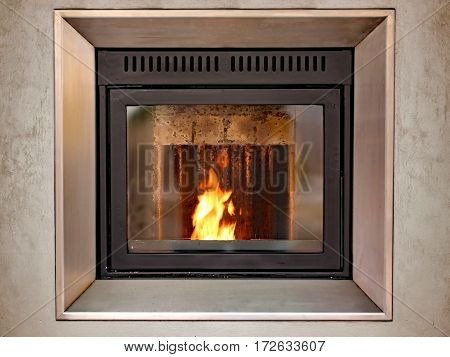 Modern Stove To Decorate And Heat The House With The Fire