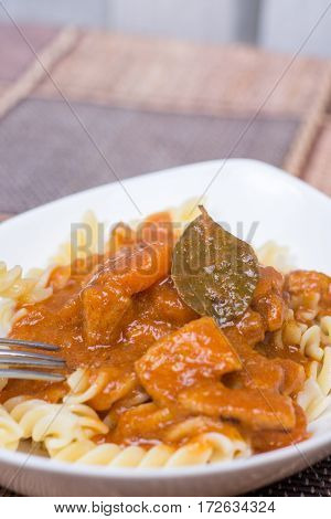 Pork Goulash Served On The Table