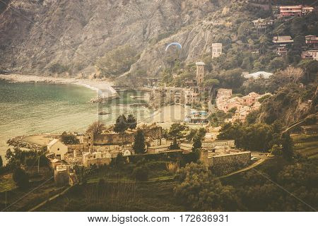Monterosso al Mare Italy is One of the Five Villages in Cinque Terre. Liguria Northern Italy.