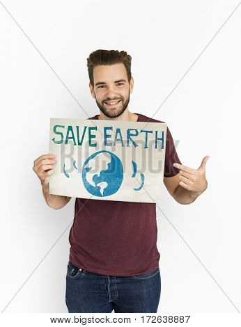 Earth Day Globe Icon Sign Graphic