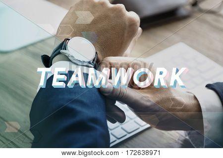 Teamwork Agreement Unity Togetherness Word