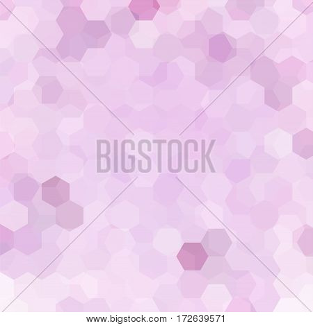 Background Of Geometric Shapes. Pastel Pink Mosaic Pattern. Vector Eps 10. Vector Illustration