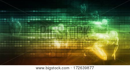 Efficient Teamwork as a Business Concept Background 3D Illustration Render
