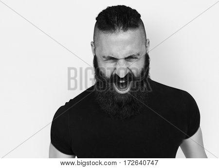 Man with Bread Scream Emotion