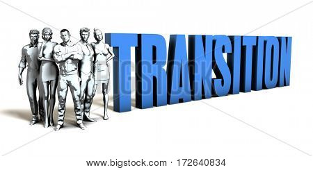 Transition Business Concept as a Presentation Background 3D Illustration Render