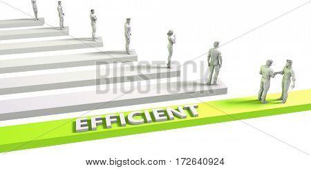 Efficient Mindset for a Successful Business Concept 3D Illustration Render