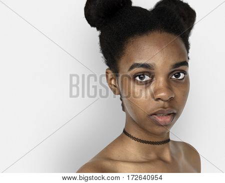 African Descent Woman Front