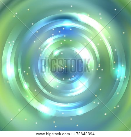 Abstract Background With Luminous Swirling Backdrop. Shiny Swirl Background. Intersection Curves. Bl