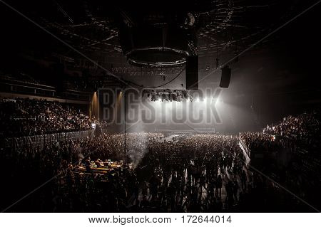 Crowd On Music Arena