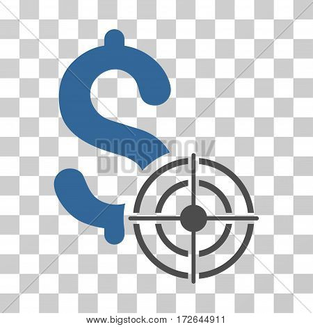 Business Target icon. Vector illustration style is flat iconic bicolor symbol cobalt and gray colors transparent background. Designed for web and software interfaces.