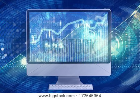 Computer screen in business concept
