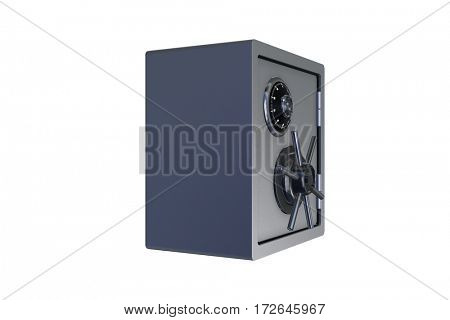 Steel money safe isolated on white - 3d rendering