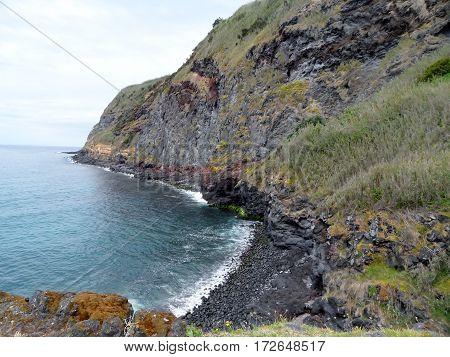 Landscape Caloura, Agua de Pau Parish, Lagoa. Sao Miguel Island, Azores, Portugal