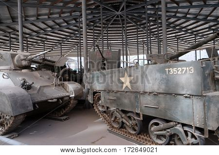 BEIJING - FEBRUARY 25: Tanks in the Military Museum of the Chinese People's Revolution in Beijing, China, February 25, 2016.
