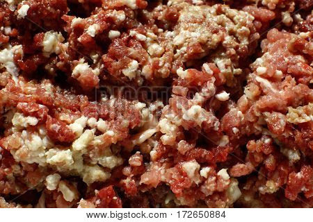 Minced Meat Full Frame Close Up Background