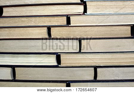 Big Pile Of Books Close Up Background