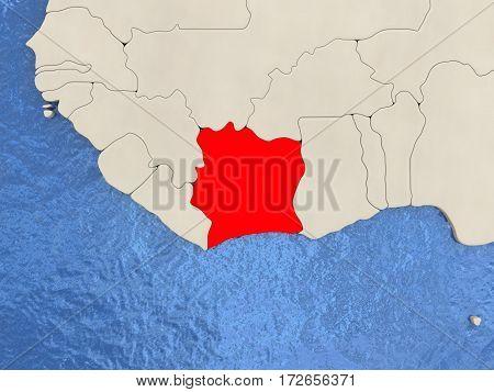 Ivory Coast On Map