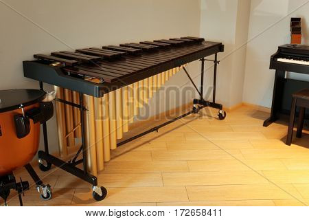 Xylophone in music shop
