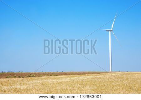 Windmill in summer field