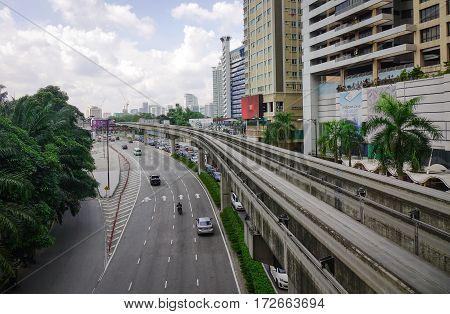 Traffic In Kuala Lumpur, Malaysia