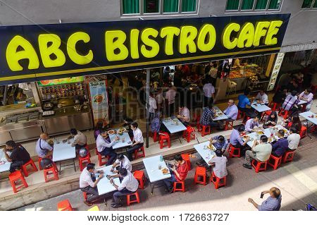 People At The Bistro Cafe In Kuala Lumpur