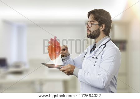 Male Doctor In His Office