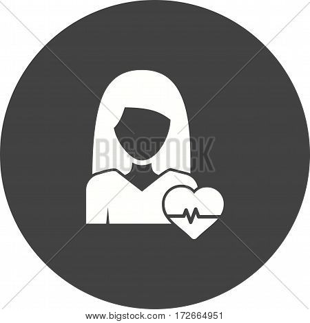 Healthy, woman, life icon vector image. Can also be used for women. Suitable for mobile apps, web apps and print media.