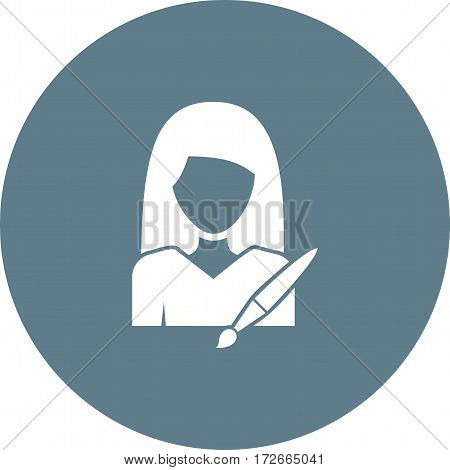 Art, workshop, women icon vector image. Can also be used for women. Suitable for mobile apps, web apps and print media.