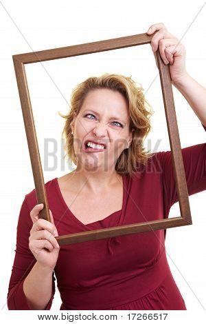 Grimacing In A Frame