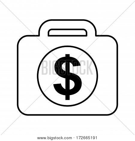 briefcase with money isolated icon vector illustration design