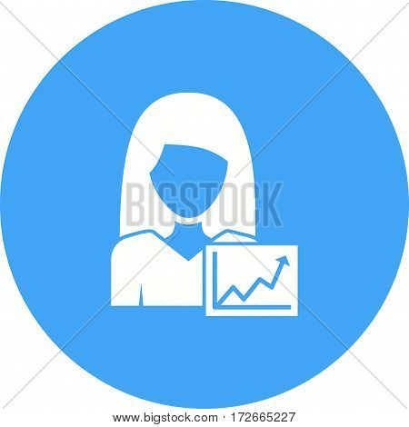 Graph, bar, marketing icon vector image. Can also be used for women. Suitable for mobile apps, web apps and print media.