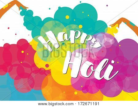 Poster design of Traditional Indian festival Holi. Bengali New Year.
