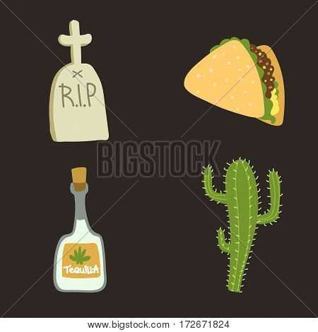 Tombstone crypt vector construction isolated. Traditional stone cemetery religion grave for dead people. Some graveyard memorial history symbol.